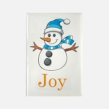Snowman Joy Rectangle Magnet (10 pack)