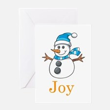 Snowman Joy Greeting Card