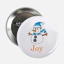 """Snowman Joy 2.25"""" Button"""