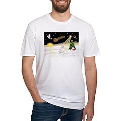 Night Flight/Bull Ter #4 Fitted T-Shirt