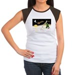 Night Flight/Bull Ter #4 Women's Cap Sleeve T-Shir