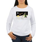 Night Flight/Bull Ter #4 Women's Long Sleeve T-Shi