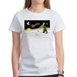 Night Flight/Bull Ter #4 Women's T-Shirt