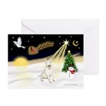 Night Flight/Bull Ter #4 Greeting Cards (Pk of 10)