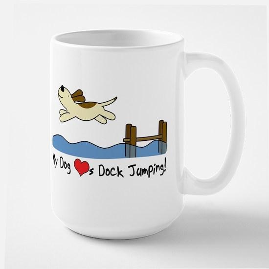 Cartoon Dock Jumping Large Mug