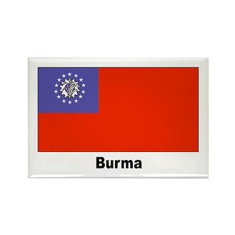 Burma Burmese Myanmar Flag Rectangle Magnet