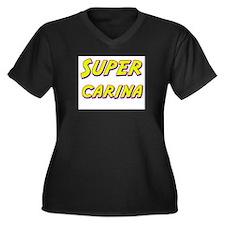 Super carina Women's Plus Size V-Neck Dark T-Shirt