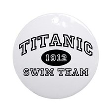 Titanic Swim Team Ornament (Round)