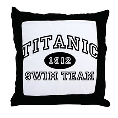Titanic Swim Team Throw Pillow