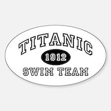 Titanic Swim Team Oval Decal