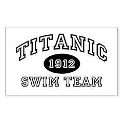 Titanic Swim Team Rectangle Decal