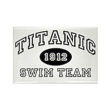 Titanic Swim Team Rectangle Magnet