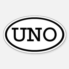 UNO Oval Oval Decal