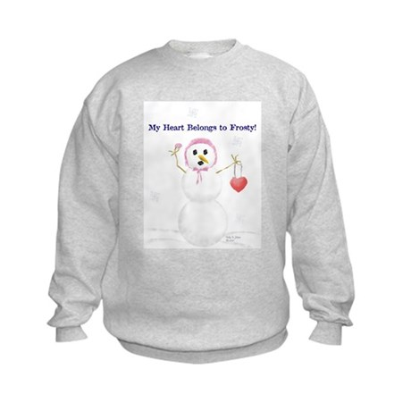 Frosty Love Kids Sweatshirt