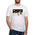 Night Flight/Corgi (BM) Fitted T-Shirt