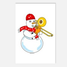 Snowman Trombone Postcards (Package of 8)