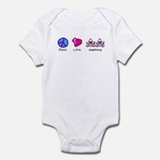 Peace Love and Twin Girls Infant Bodysuit