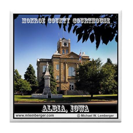 Monroe County Courthouse Tile Coaster