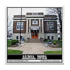 Albia Public Library Tile Coaster