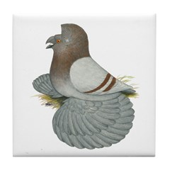 English Trumpeter Mealy Tile Coaster