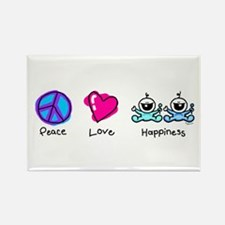 Peace Love and Twin Boys Rectangle Magnet