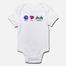 Peace Love and Twin Boys Infant Bodysuit