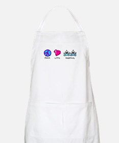 Peace Love and Twin Boys BBQ Apron