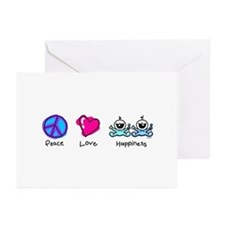 Peace Love and Twin Boys Greeting Cards (Pk of 10)