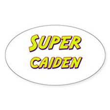 Super caiden Oval Decal
