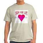 Swim for Life Ash Grey T-Shirt
