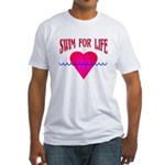 Swim for Life Fitted T-Shirt