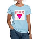 Swim for Life Women's Pink T-Shirt
