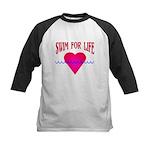 Swim for Life Kids Baseball Jersey