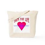 Swim for Life Tote Bag