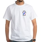 Male Breast Cancer Survivor White T-Shirt