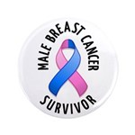 "Male Breast Cancer Survivor 3.5"" Button (100 pack)"
