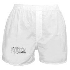 Mother-in-law is my Hero NAVY Boxer Shorts