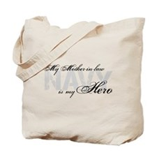 Mother-in-law is my Hero NAVY Tote Bag