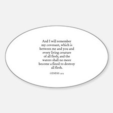 GENESIS 9:15 Oval Decal
