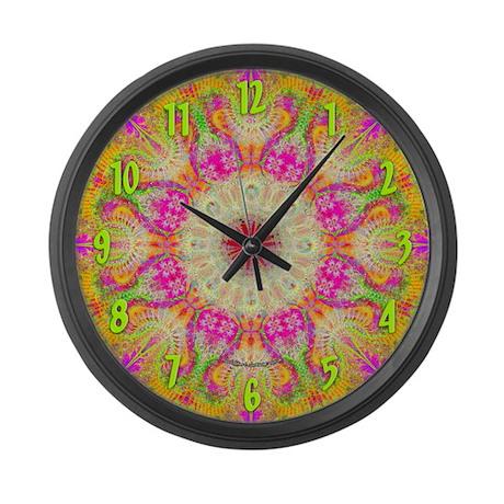 Fractal Flower Large Wall Clock