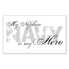 Nephew is my Hero NAVY Rectangle Decal