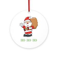 Santa Ho Ho Ho Ornament (Round)
