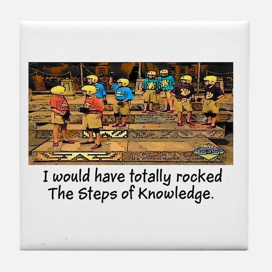 Steps of Knowledge Tile Coaster