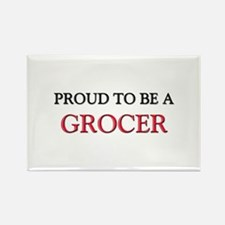 Proud to be a Grocer Rectangle Magnet