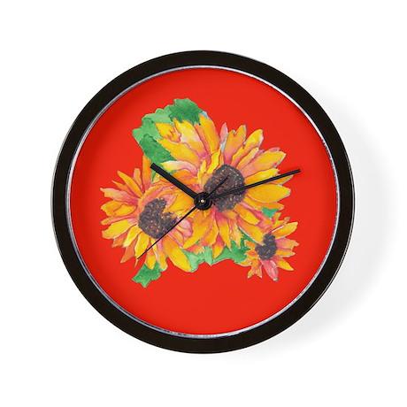 SUNFLOWER SPLASH/GIRASOL CHAPOTEO Wall Clock
