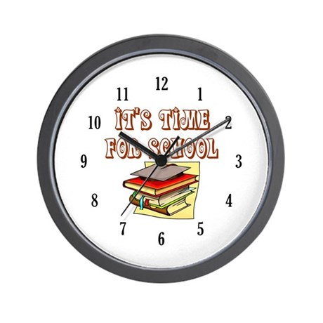 School Teacher or Teacher Aide Wall Clock