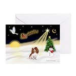 XmasSunrise/Cavalier #6 Greeting Cards (Pk of 10)