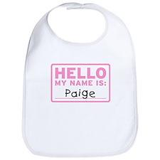 Hello My Name Is: Paige - Bib