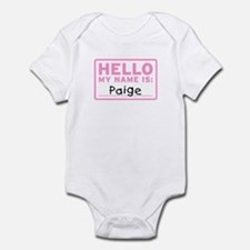 Hello My Name Is: Paige - Infant Bodysuit