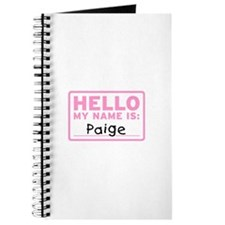 Hello My Name Is: Paige - Journal